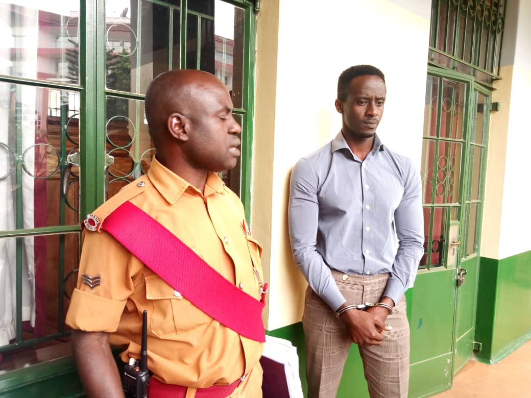Pato outside the court room before he was being granted bail. Photo by Rachel Agaba