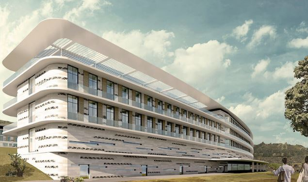 The artistic impression of the International Specialised Hospital (ISHU) in Lubowa, Entebbe Road. (PROGETTO CMR PHOTO)