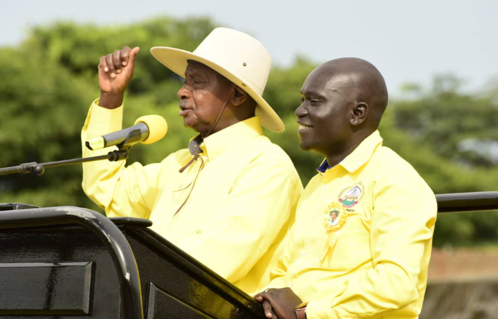 President Museveni campaigned for youthful Urombi for Nebbi District chairmanship. (PHOTO/courtesy)