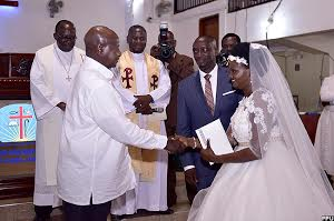 Mr. Museveni attends Maj. Atuhaire's wedding on weekend. (PHOTO/Courtesy)
