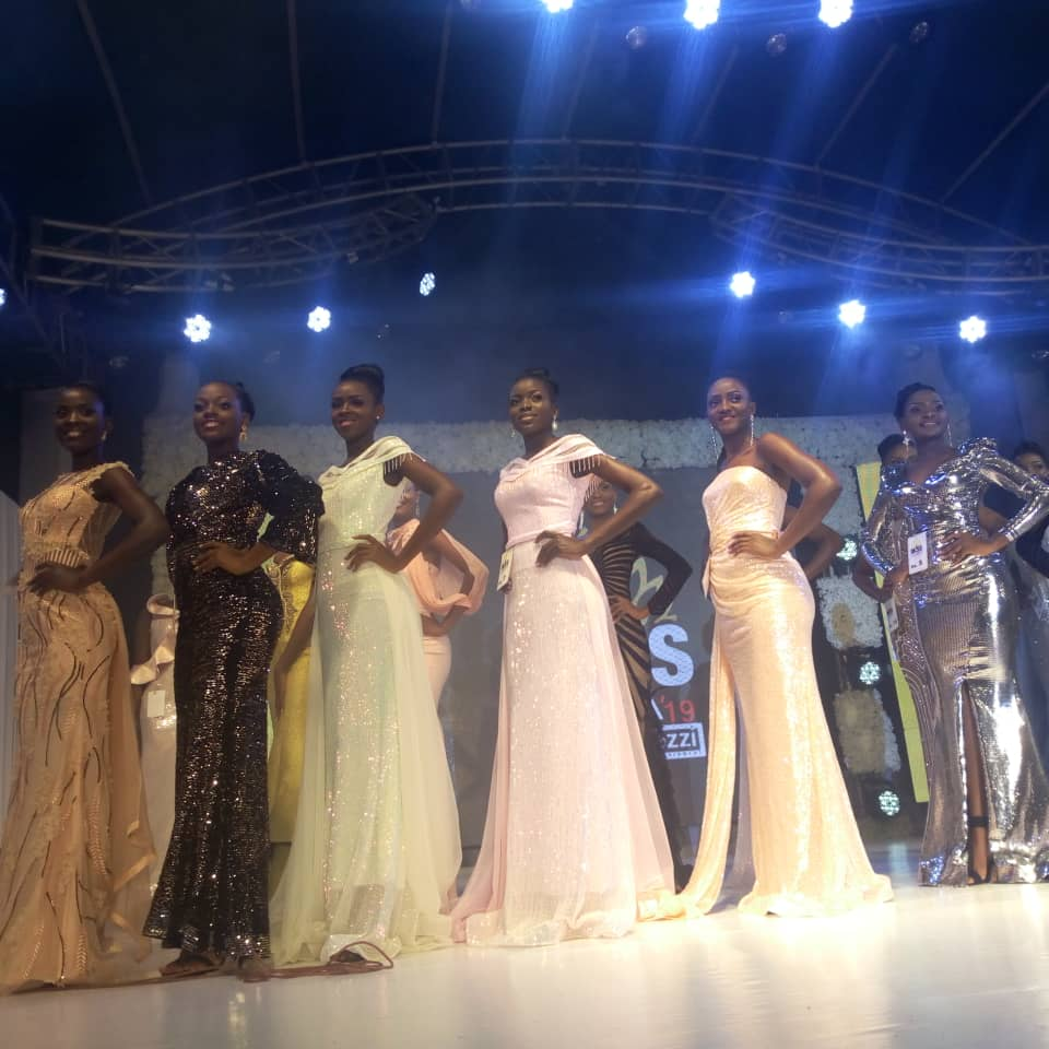 The top 10 Beauty Queens hit the runaway at the Miss Uganda FInale Friday July 26. (PHOTO/Abraham Mutalyebwa)