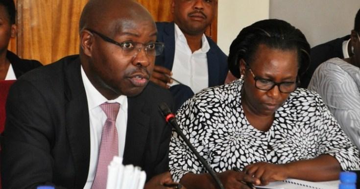 Agriculture permanent secretary Pius Wakabi Kasajja appearing before a Parliamentary Committee. (PHOTO/File)