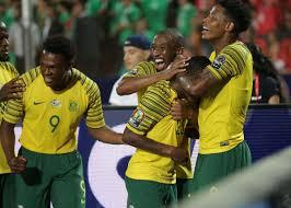 Bafana Bafana eliminated Egypt at the round of 16.