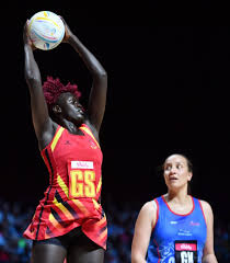 Mary Nuba (left) played as a Goal Shooter on Saturday. (PHOTO/Courtesy)