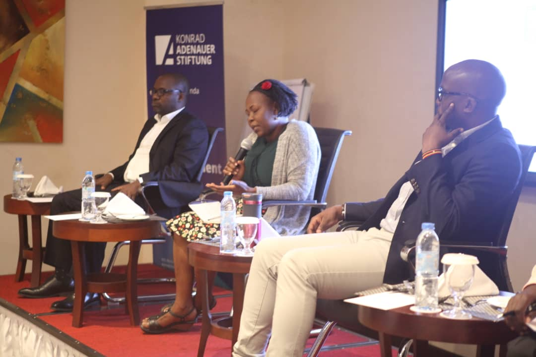 Mr Pius Katunzi (L), is is joined by Barbra Among and Uganda Editor's Guild interin Chairman Daniel Kalinaki for the Panel  Discussion (PHOTO/PML Daily)
