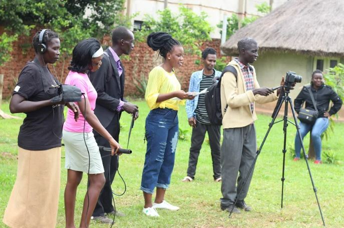 The film makers received specialised training at the festival. (PHOTO/David Okema)