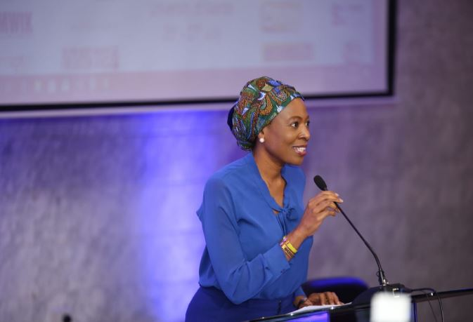 AWiM 2019 keynote Biola Alabi shares how using her personal experience on navigating media and work as a woman. (PHOTO/Net)