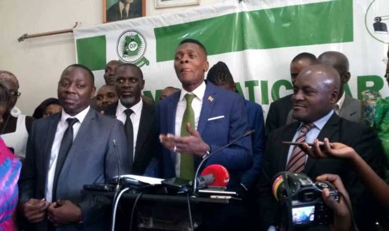 Artiste Joseph Mayanja, aka Jose Chameleone, addresses a press conference in company of DP Party and opposition leaders Tuesday July 16. (PHOTO/Courtesy)