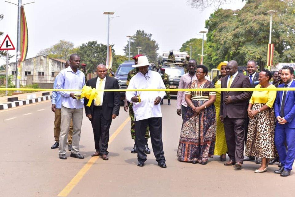 President commissions Masaka Municipal roads