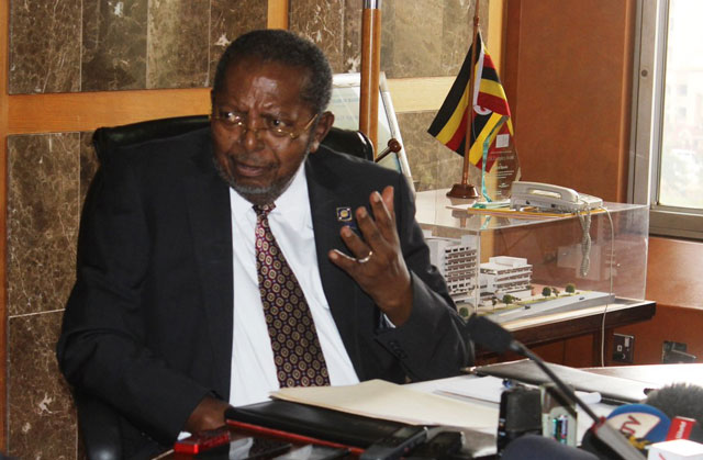 Emmanuel Tusiime Mutebile, the Central Bank boss in his office (PHOTO/File)