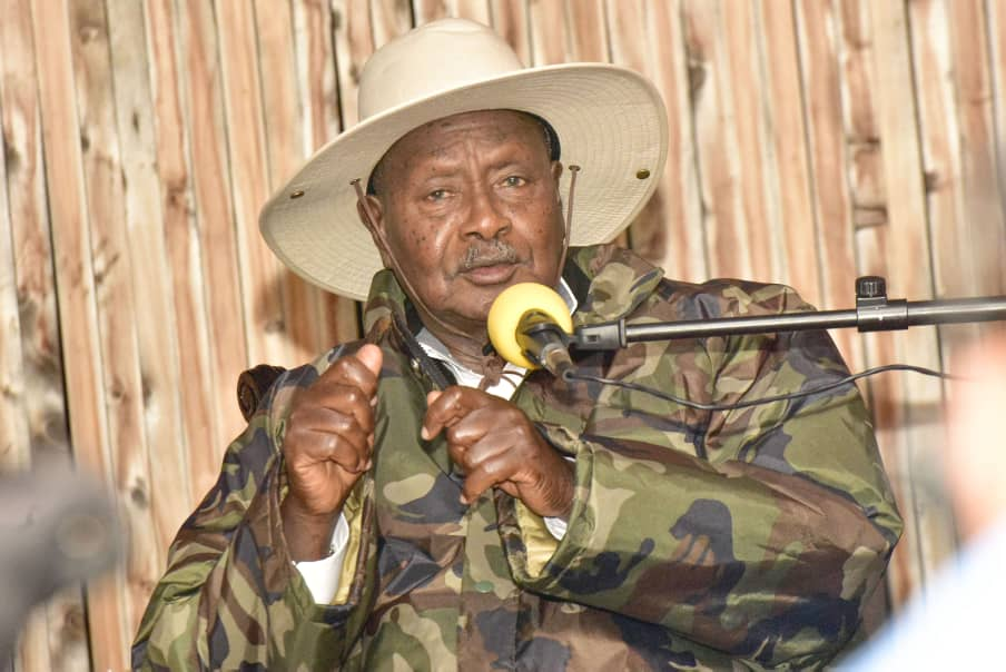 President Museveni disapproved ISO DG Kaka Bagyenda's proposal to sack all GISOs that were not graduates. (PHOTO/File)