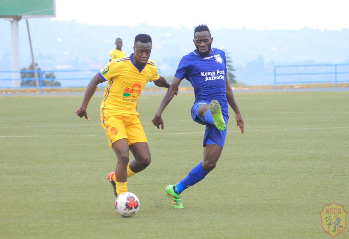 Saddam Juma (left) scored KCCA FC's equalizer on Sunday. (PHOTOS/KCCA FC)