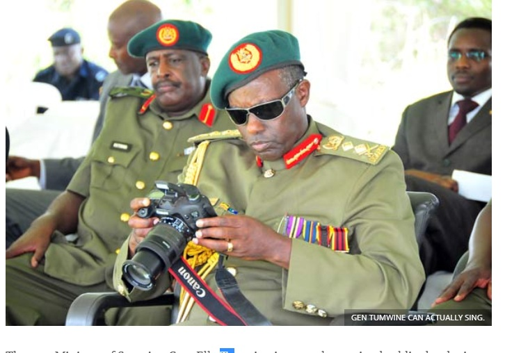 Gen Tumwine has summoned the media in Mbarara to speak about his parliamentary probe. (PHOTO/File)