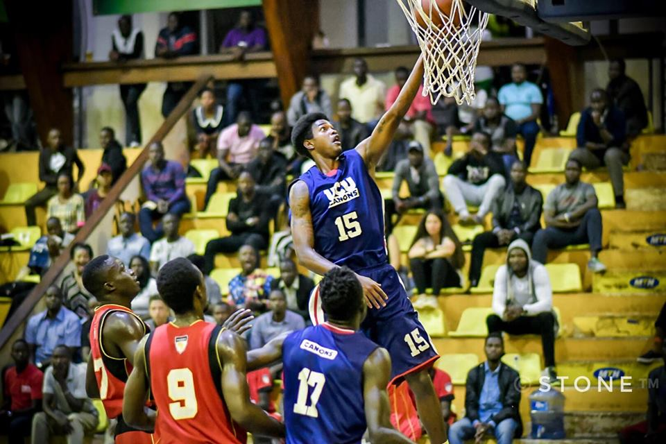 UCU's Martin Tyron executes a lay-up against Warriors on Friday. (PHOTOS/FUBA)
