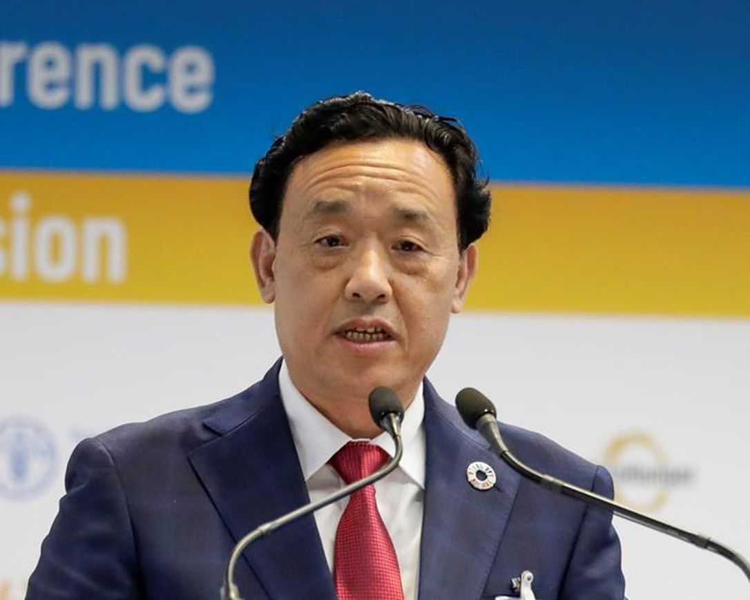 Qu Dongyu took up office as the ninth Director-General of the Food and Agriculture Organization of the United Nations on 1 August 2019. He is the first Chinese national to head the Organization. (PHOTO/File)