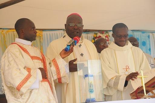 Archbishop Paul K.Bakyenga who was the ain celebrant at the silver jubilee celebrations of St. Mary's Vocation school Kyamuhunga in Bushenyi (2)