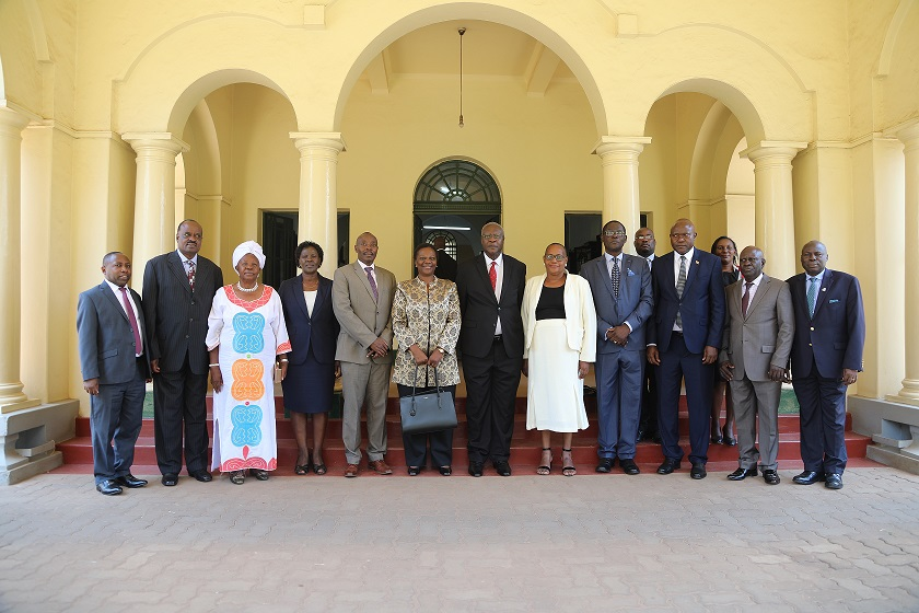 CAPTIONS Pic1 Group Picture Of the EDT Members, Minister and Chief Justice at the High Court
