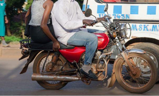 A Boda-boda cyclist at Arua park in Kampala