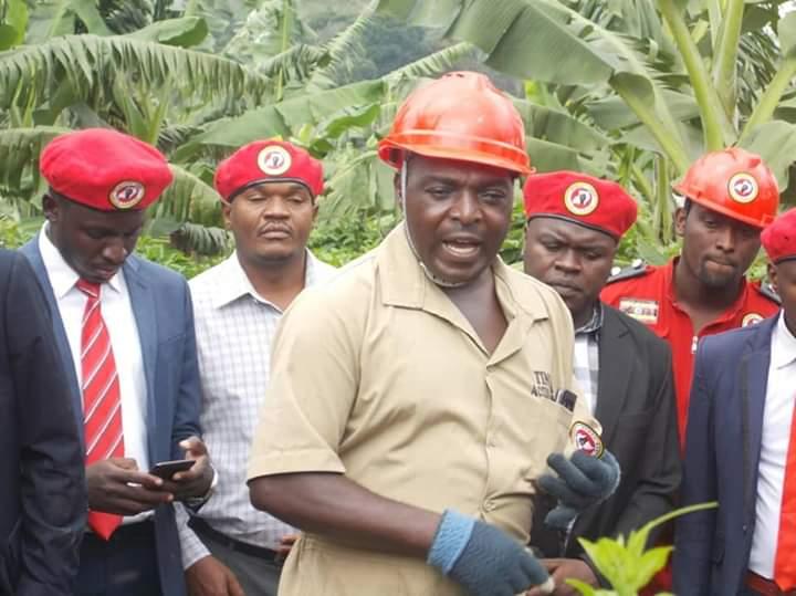 MP Barnabas Tinkasiimire the People Power chief coordinator in Bunyoro region on Saturday. (PHOTO/Courtesy)