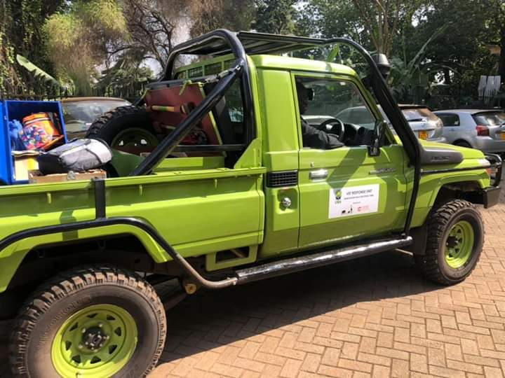 UWA receives veterinary vehicle, motorcycle from Uganda Conservation Foundation