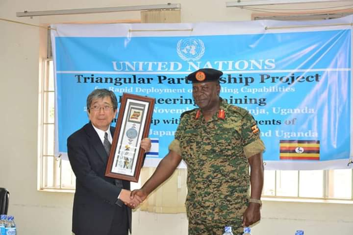 Japanese Ambassador Kameda has officially launched UPDF and Japanese army training in Jinja. (PHOTO/Courtesy)