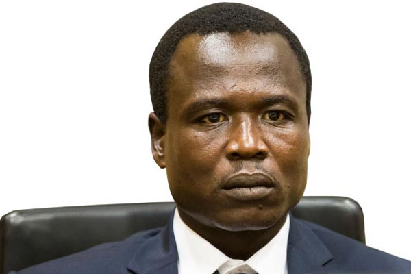 Accused. Former LRA commander Dominic Ongwen
