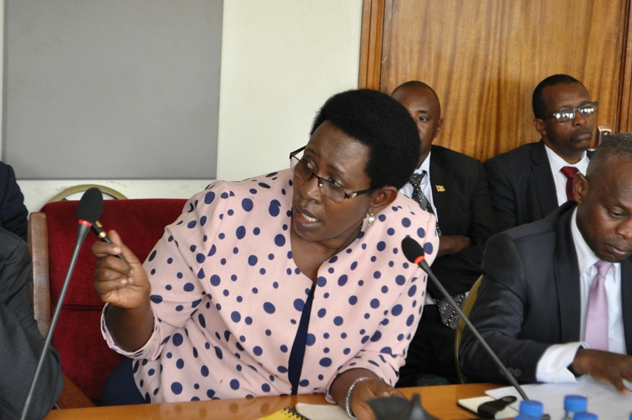 Health Ministry Ps Dianna Atwiine before PAC today