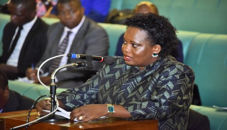 Hon Amongi Betty Ongom, Oyam County South ad minister of lands Minister for Lands, Hon. Betty Amongim in the House