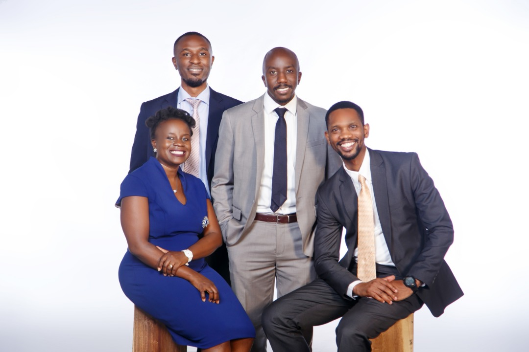 Left-Right: Zamara Uganda Team- Miriam Ekirapa Musaali, Chief Operating Officer; Andrew Mwangi Ngumo, Finance and Administration Manager; Philip Musinguzi , Business Development Manager and Benson Arindah , Head , Fund Administration. Zamara Uganda says they remain the the same enthusiastic, energetic, creative team that is committed to offering the same superior consulting, advisory and administration services to pension funds in Uganda. (PHOTO/Courtesy)