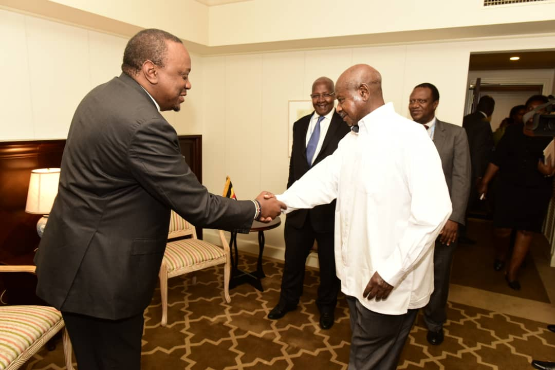 President Yoweri Museveni and Kenya's Uhuru Kenyatta have held talks in Japan. (PHOTO/PPU)