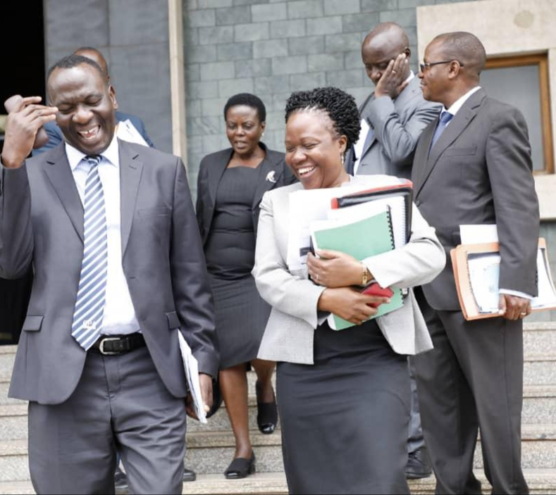 Ms. Margaret Kasule, the head of legal at Bank of Uganda after being grilled by Cosase recently. (PHOTO/File)