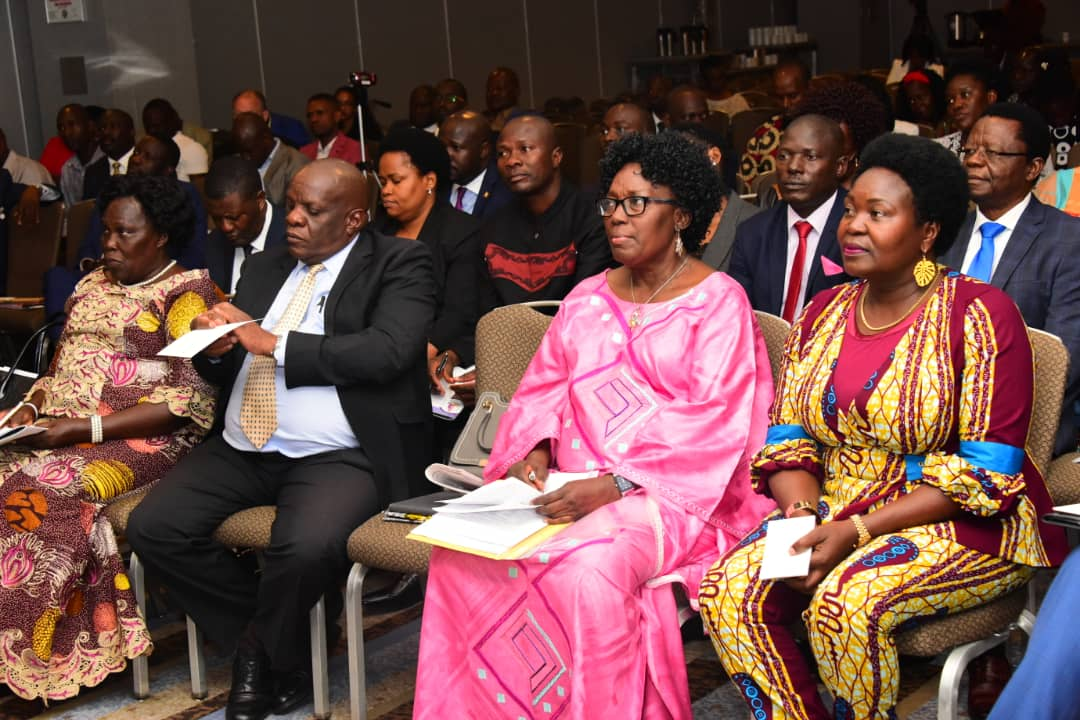 Speaker Kadaga at the UNAA convention in Kikago last year. (PHOTO/File)