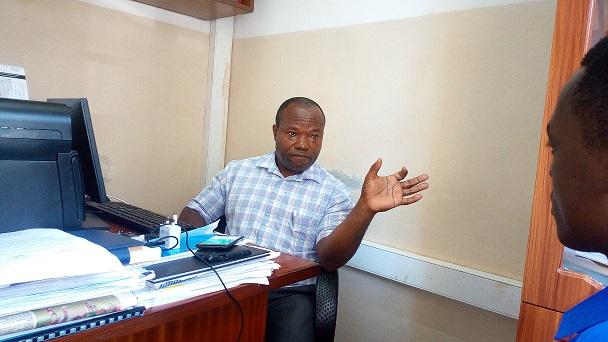 Prof. Edward Mwavu speaking to Pml daily on Tuesday.