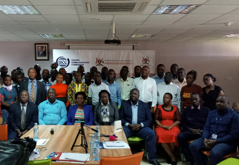 Officials from UCC/RCDF, ministry of education and KAWA together with ICT teachers during a capacity building workshop for ICT teachers held at Civil Service College Uganda in Jinja. (PHOTO/Javira Ssebwami)