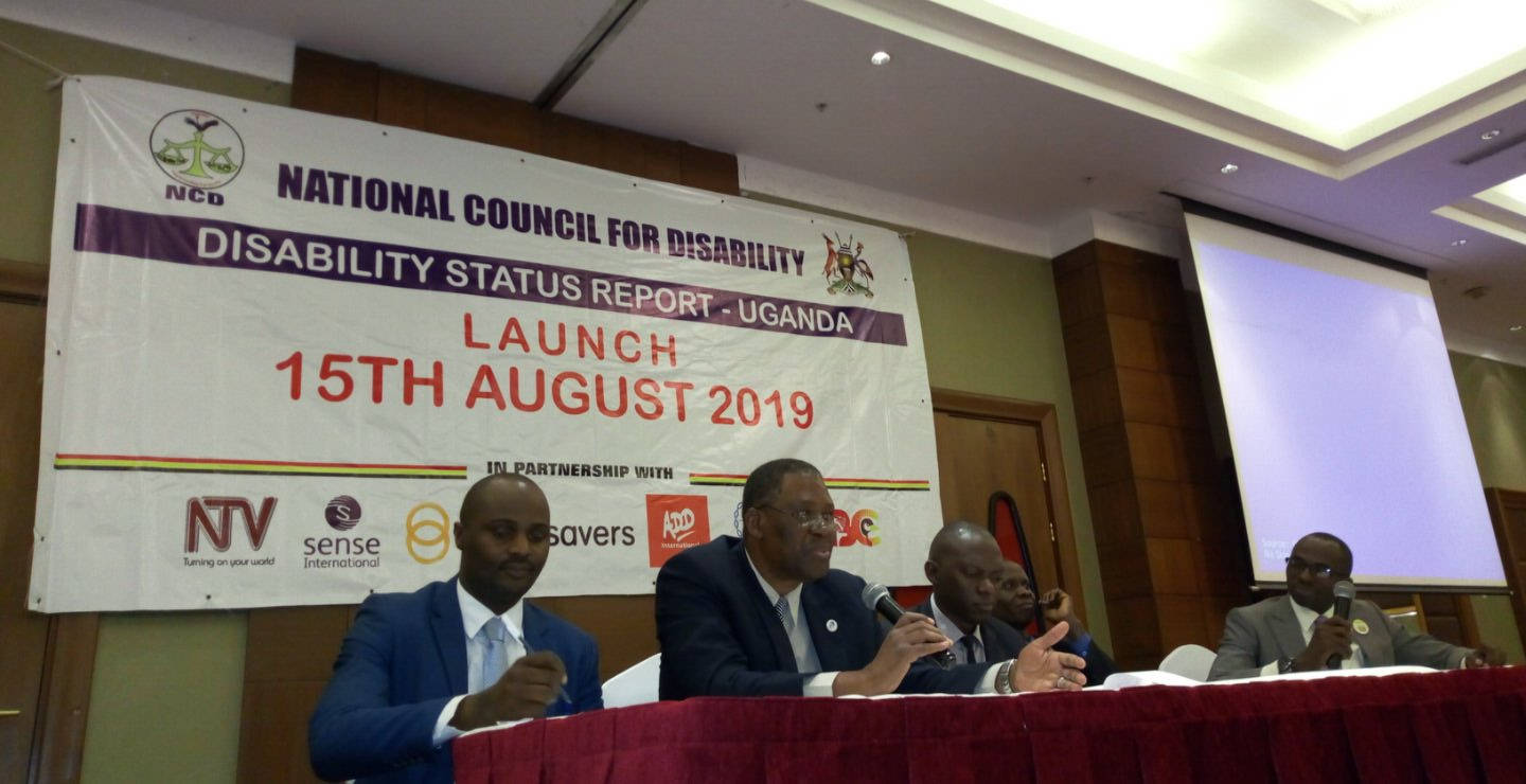 Mr. Gideon Badagawa, the Executive Director, Private sector Foundation Uganda, is joined by NCD precinct at the launch of the report.  (PHOTO/Abraham Mutalyebwa)