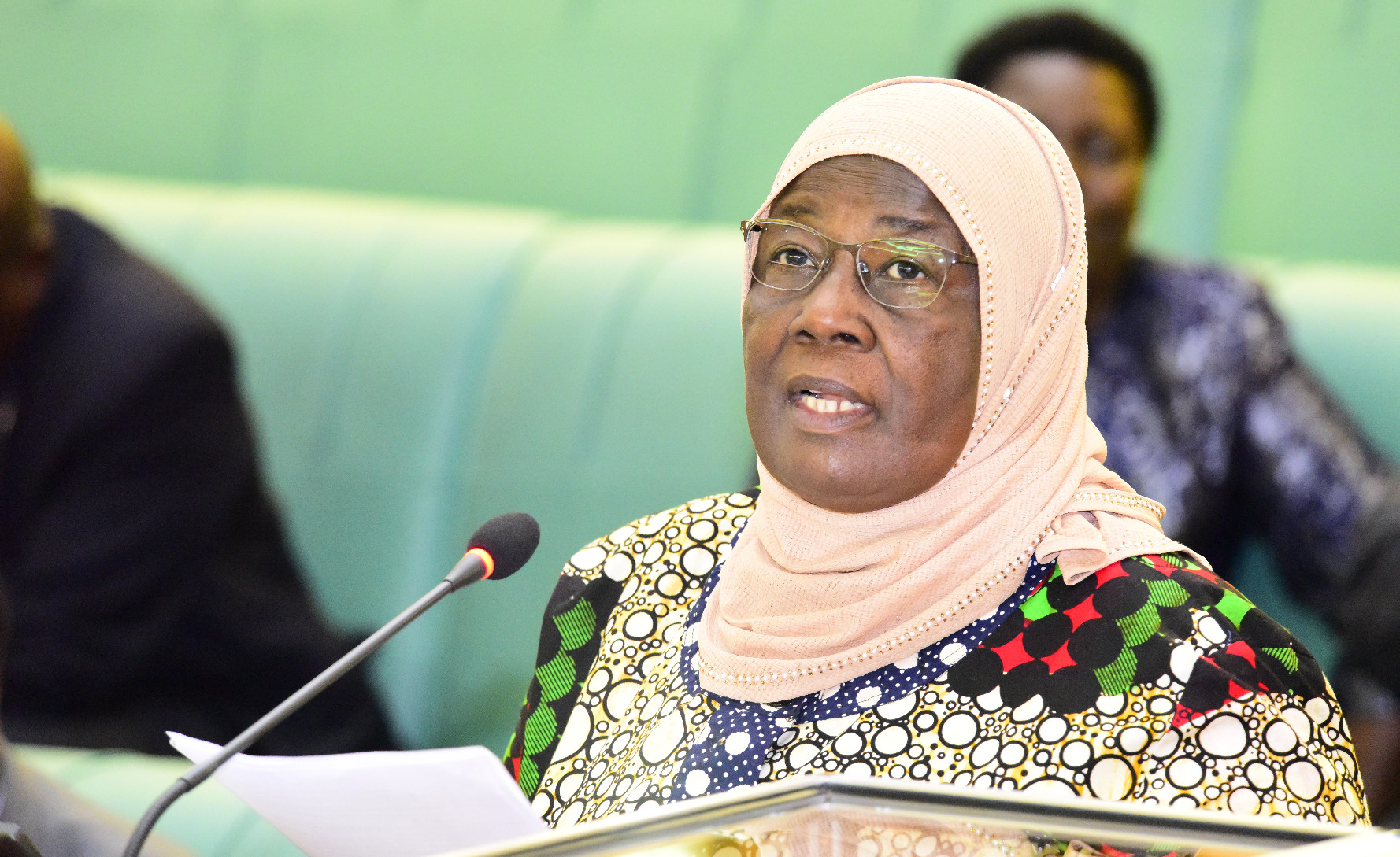 Hon Janat Mukwaya, the Minister for Gender, Labour and Social Development.