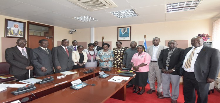Kaberamaido leaders after presenting a Petition to Speaker Rebecca Kadaga on the BKK Ferry at Parliament,12th 08 2019