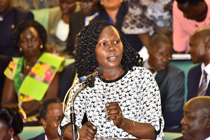 State Minister of Finance for Investment and Privatization in the Uganda, Ms. Evelyn Anite says Museveni will clean mafias from government. (PHOTO/File)