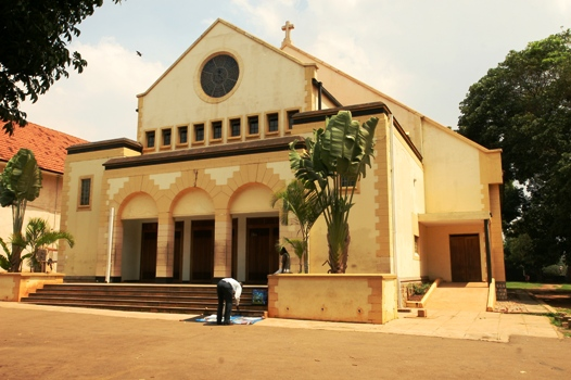 Police is hunting for a yet to be identified man caught on CCTV robbing from the sacristy at St Augustine Catholic Chapel, Makerere University. (PHOTO/File)