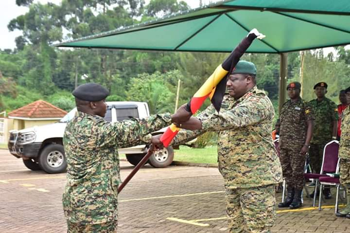 Deputy CDF Gen. Mbadi has flagged off UPDF contigent to Kenya for cultural events. (PHOTO/Courtesy)