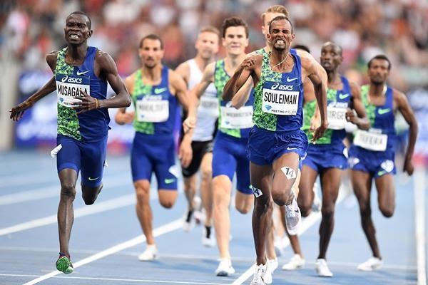 Uganda's Ronald Musagala wins the 1500 race at the IAAF Diamond League meeting in Paris. (PHOTO/Courtesy)