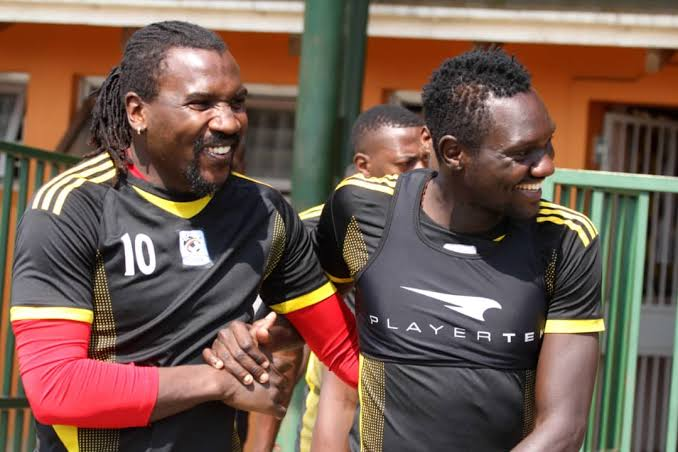 Hassan Wasswa (left) has played 76 games for the Uganda Cranes. (PHOTO/Courtesy)