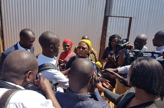 Dr Jane Ruth Aceng and Permanent Secretary Diana Atwine and Committees on Health and National Economy enied access to the construction site of the specialised hospital in Lubowa.