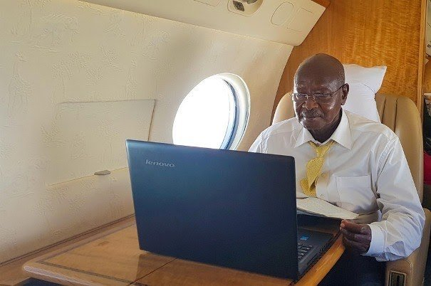 President Museveni replies to Ugandans as he travels to Japan (PHOTO/PPU)