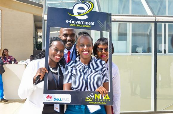 Some of NITA Uganda officials pose for a group photograph at the launch of the e-Government portal. (PHOTO/File)