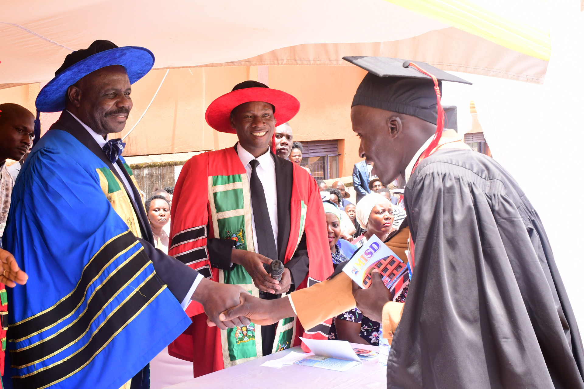The Deputy Speaker, Jacob Oulanyah, officiating at the 15th graduation ceremony of Makerere Institute of Social Development.