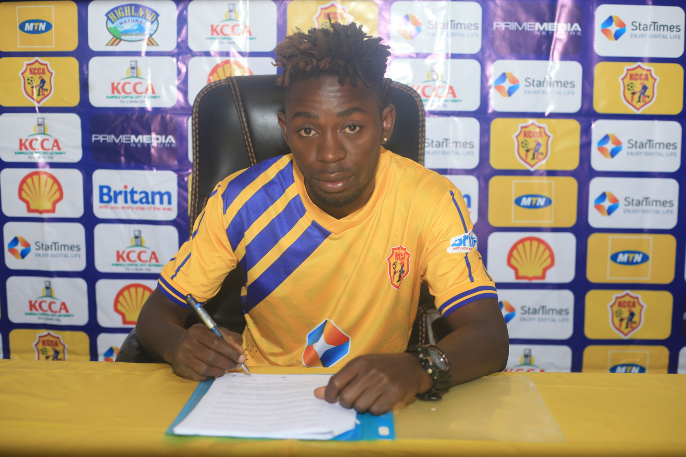 Serunkuma inks a two-year deal at KCCA FC on Monday. (PHOTO/KCCA FC)
