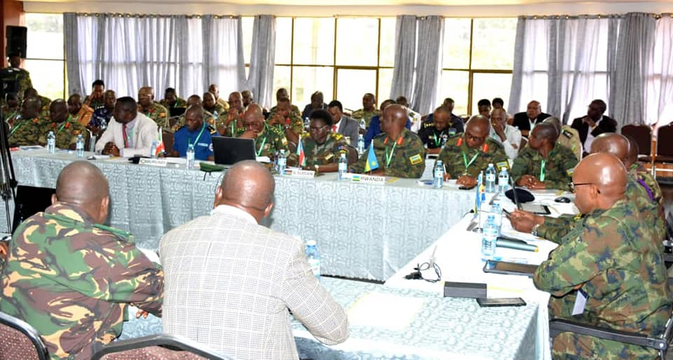 Representatives from the Military, Police, Prisons, civilian components and other stakeholders from all the six East Africa Community (EAC) partner states are meeting at Silver Springs Hotel in Kampala to discuss modalities of conducting the 12th Edition Command Post Exercise (CPX) codenamed Ushirikiano Imara 2019 in Uganda. (PHOTO/Courtesy)