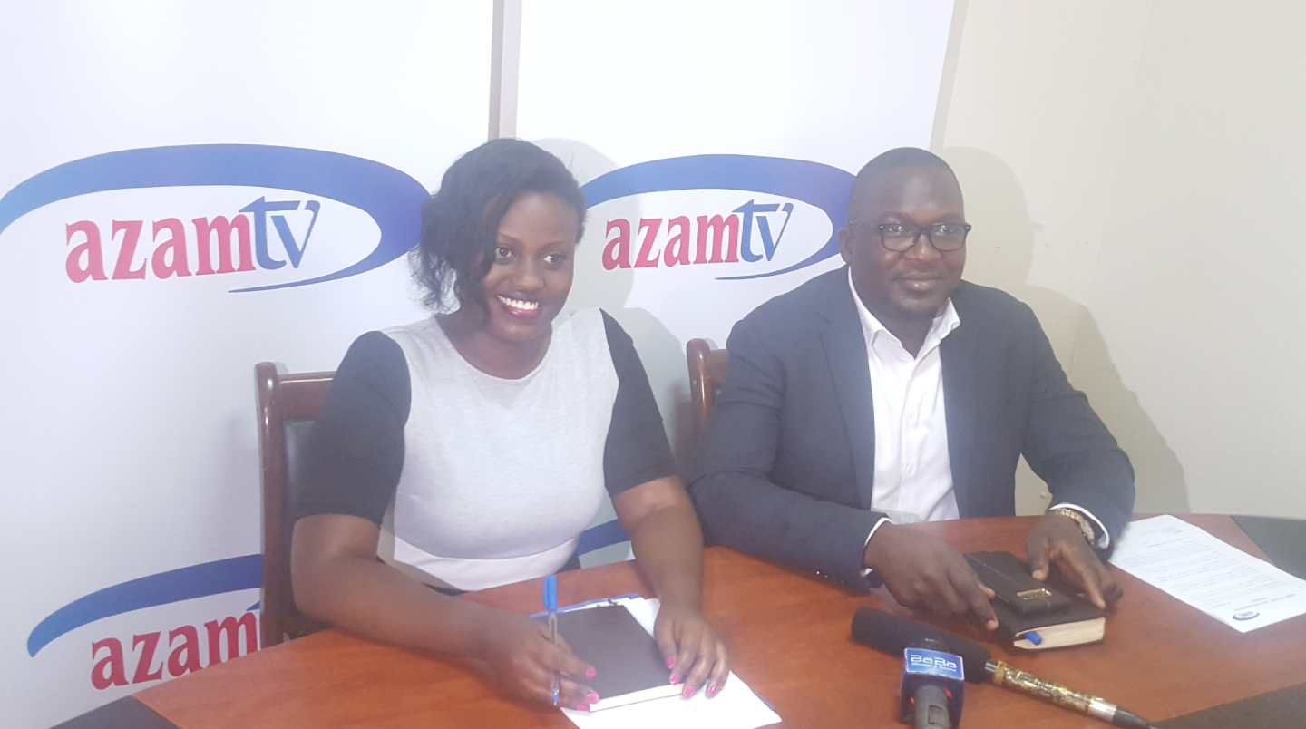 AzamTV head of customer care Shibah Kiconco (left) and head of Marketing Dennis Kalikwani (right) during a press conference recently (PHOTO/File)