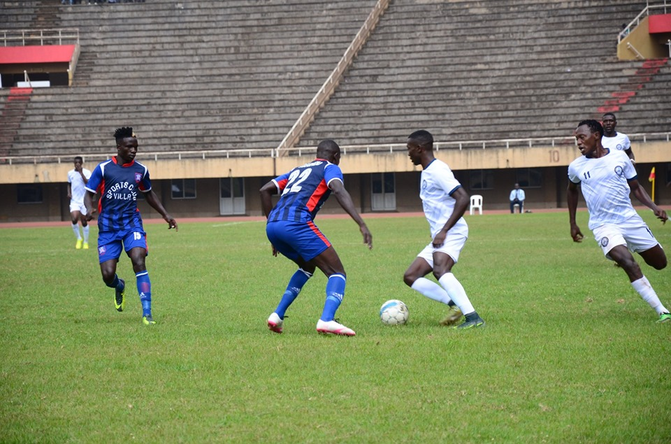 Action between SC Villa and Police FC at Mandela National Stadium on Tuesday. (PHOTO/Police FC)